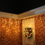 4.8m Warm White Outdoor Icicle Lights, 180 LEDs, White Cable