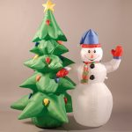 180CM (6FT) INFLATABLE TREE AND SNOWMAN