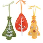 3 ASSTD 11CM FELT TREE IN ASSTD COLS