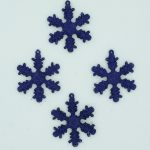 12 x 50mm Midnight Blue Shatterproof Snowflakes