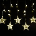2m Indoor Star Curtain Light , 75 LEDs