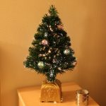 Indoor Green Fibre Optic Tree, 8 colour balls, 60cm