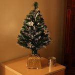 Indoor Green Fibre Optic tree, 8 transparent stars, 60cm