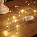 2m Micro Battery Fairy Lights on Silver Wire, 20 LEDs