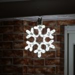 30cm White Rope Light Snowflake silhouette Connectable, 72 LEDs