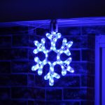 30cm Blue Rope Light Snowflake silhouette, Connectable, 72 LEDs