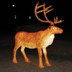 Large LED Crystal Stag Deer (Brown)