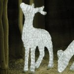 Medium LED 3D Male Standing Deer, 832 Leds, 101cm (h)