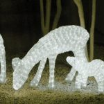 Medium LED 3D Female Eating Deer, 832 Leds, 63cm (h)