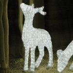 Large LED 3D Male Standing Deer, 1592 Leds, 146cm (h)