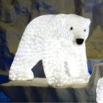 Large LED 3D Female Polar Bear, 1520 Leds, 63cm (h