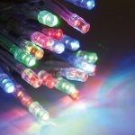 20M Indoor Fairy Lights, 200 Multi Colour LEDs, Clear Cable