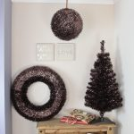 Indoor Colour Tinsel Ball, brown shiny leaves, 30cm