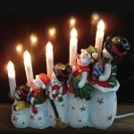 Indoor Poly snowman table light, coloured paint decoration, 1.5m lead, on/off switch, 240v
