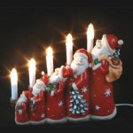 Indoor Poly Santa Claus table light, coloured paint decoration, 1.5m lead, on/off switch, 240v