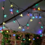 50 Multi Colour LED Blossom Indoor & Outdoor Battery Fairy Lights with Timer