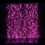 2m x 2.5m Pink Connectable Curtain Light, 500 LEDs