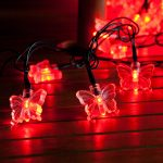 5m Outdoor Butterfly Battery Fairy Lights, 50 LEDS