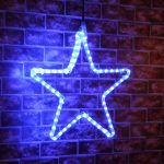 45cm Rope Light Star Silhouette Connectable, 72 LEDs