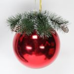 25cm Large Bauble with Decorative Top
