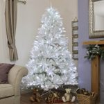 7FT White Winsdor Fir PE Christmas Tree with 250 White LEDs