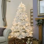 7FT White Winsdor Fir PE Christmas Tree with 250 Warm White LEDs