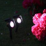 Solar Spot Lights, White & Colour Changing LEDs, 2 Pack