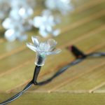 50pcs pack of Blossom leaves for 5mm LED. To fit onto FL solar and battery light strings