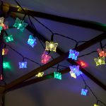 Solar Butterfly Fairy Lights, 50 Multi Colour LEDs, 5m