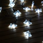 Solar Butterfly Fairy Lights, 50 White LEDs, 5m