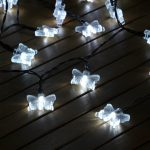 50 White LED Butterfly Battery Operated Fairy Lights with Timer