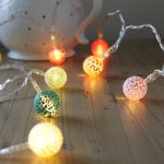 Multi Colour Lava Effect Battery Fairy Lights, 10 Warm White LED