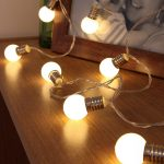 Mini Festoon Bulb Battery Fairy Lights, 10 Warm White LEDs