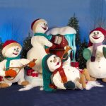 Animated Snowman Band