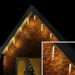 5m Warm White Outdoor Christmas Icicle Tube Light, Connectable, 65 LED
