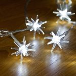 3.8M WHITE LED 3D STAR LIGHTS