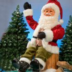 Animated Sitting Santa Claus