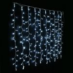 1m x 1m White Curtain Lights, 100 LEDs
