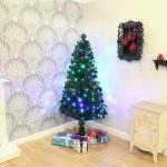 1.8m Colour Changing Fibre Optic Christmas Tree with Rotating Base