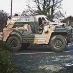 Military Vehicle Driving Bournemouth