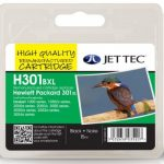 HP301XL BLK CH563EE Black Remanufactured Ink Cartridge by JetTec – H301BXL