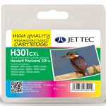 HP301XL COL CH564EE Colour Remanufactured Ink Cartridge by JetTec – H301CXL