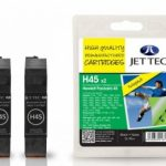 HP45 51645AE Black TWINPACK Remanufactured Ink Cartridge by JetTec – H45 x 2