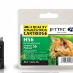 HP56 C6656AE Black Remanufactured Ink Cartridge by JetTec – H56