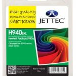 HP940XL C4906AE Black Remanufactured Ink Cartridge by JetTec – H940BXL