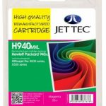 HP940XL C4908AE Magenta Remanufactured Ink Cartridge by JetTec – H940MXL