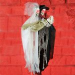 2.9m LED Battery Hanging Bride & Groom with Baby Halloween Figure