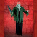 90cm Battery Halloween Demented Slasher with Light and Sound