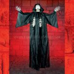 1.55m Halloween Battery Operated Black Light up Hanging Reaper with Light & Sound