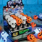 Battery Operated Halloween Skull Torch with Light & Sound
